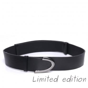 Kožený černý pásek - MALE (nastavitelný)