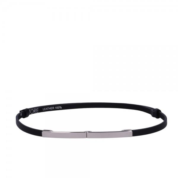 Dámský černý kožený pásek - ETRO (nastavitelný)