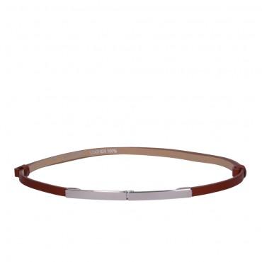 Dámský hnědý kožený pásek - ETRO (nastavitelný)