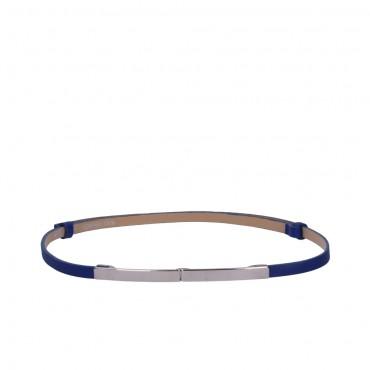 Kobaltově modrý kožený pásek - ETRO (nastavitelný)