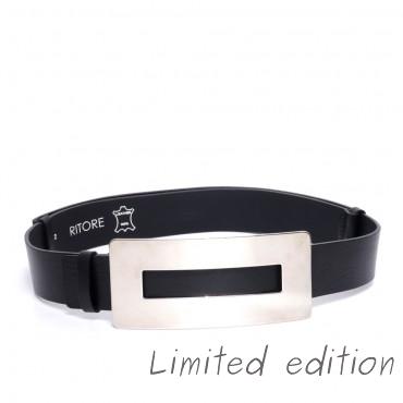 Kožený černý pásek - PRIM (nastavitelný)