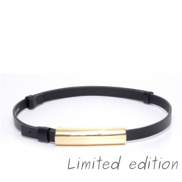 Kožený černý pásek - ELOI