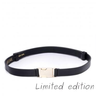 Kožený černý pásek - CARL (nastavitelný)