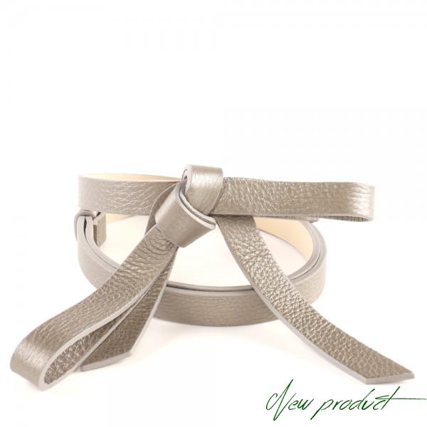 Kožený stříbrný pásek RUBI II