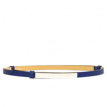Dámský kobaltově modrý kožený pásek - DION