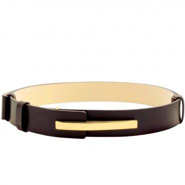 Elegantní hnědý pásek FEND v minimalistickém designu - (nastavitelný)