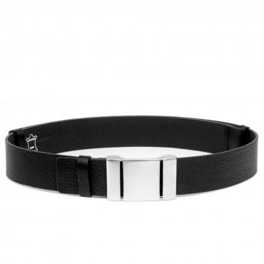 Dámský černý kožený pásek k džínám - KRON