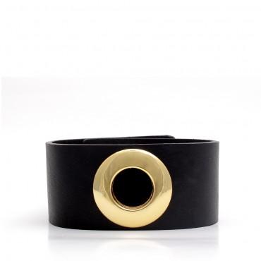 VEBO - kožený náramek v černé barvě